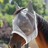 Harrison Howard CareMaster Maschera Anti-Mosche per Cavallo UV Protezione con lana (L; Full Size)
