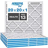 Aerostar Home Max 20x20x1 MERV 13 Pleated Air Filter, Made in the USA, Captures Virus Particles…