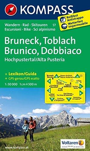 Bruneck Toblach 57 GPS wp kompass D/I by Kompass-Karten (2012-05-31)