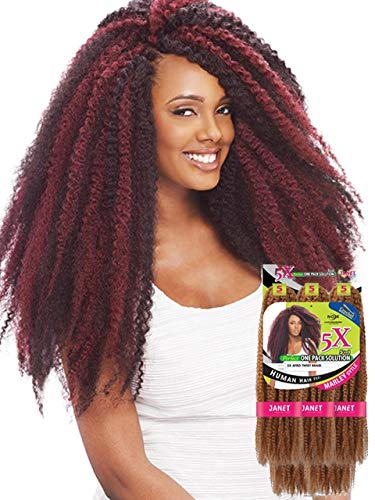 Janet Collection Synthetic Noir 5X Afro Twist Braid (1B)