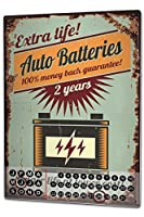 カレンダー Perpetual Calendar Garage Auto Batteries Tin Metal Magnetic