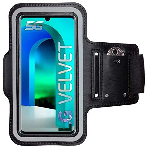 CoverKingz Brazalete deportivo para LG Velvet, con compartimento para llaves, LG Velvet, color negro