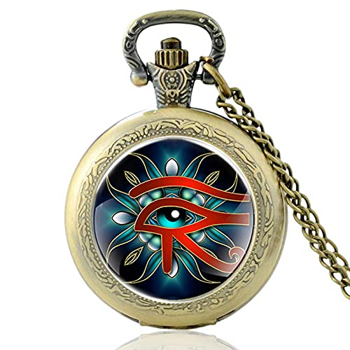 TUDUDU Retro Misterioso El Ojo De Horus Diseño Cabujón De Cristal Reloj...
