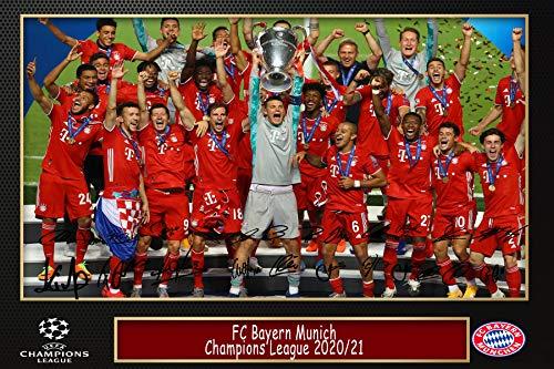 Techland13 FC Bayern München Champions League 2019/20 Poster (A4)
