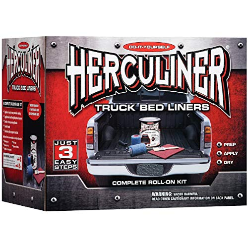 HERCULINER Black 6 foot Truck Bed Roll on Bedliner Kit