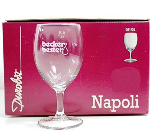 Beckers Bester Gläser Set 6x0,2l Napoli Saft-Glas geeicht ~mn 821 0941