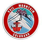 Vail Mountain, Colorado Ski Restort Mountain Embroidered Premium Patch DIY Iron-on or Sew-on Decorative Badge Emblem Vacation Souvenir Travel Gear Clothes Appliques