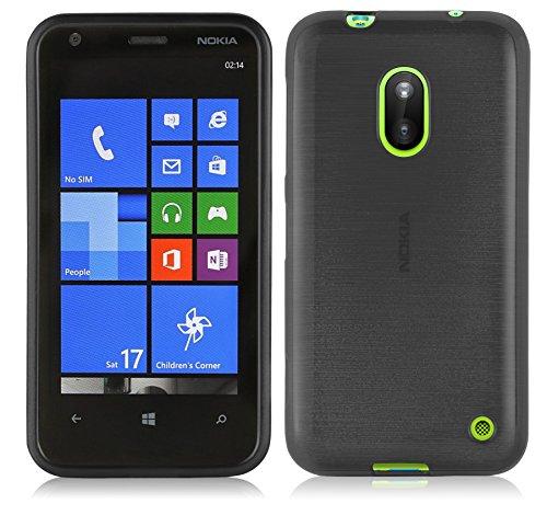 Cadorabo Funda para Nokia Lumia 620 en Negro - Cubierta Proteccíon de...