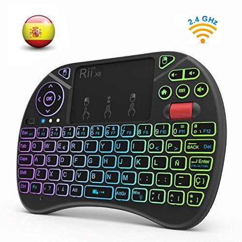 Rii X8 (Nueva versión 2018) - Mini teclado inalámbrico ret