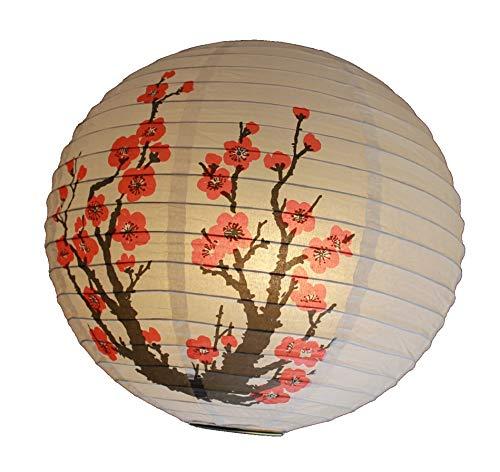 AAF Nommel ®, 260, Lampion 1 STK. Papier Weiss japanisch rund gelöchert, Durchmesser 40 cm