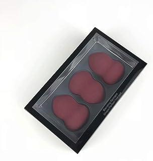 3 stuks make-up spons schoonheid blender set en poederdonsjes, droog en nat gebruik, rood