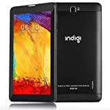 Indigi GSM Unlocked 4G LTE 7.0in TabletPC & Smartphone (Android 9.0 Pie OS + DualSIM + 4Core 2GB/16GB Storage + Google Play Store) (BLK)