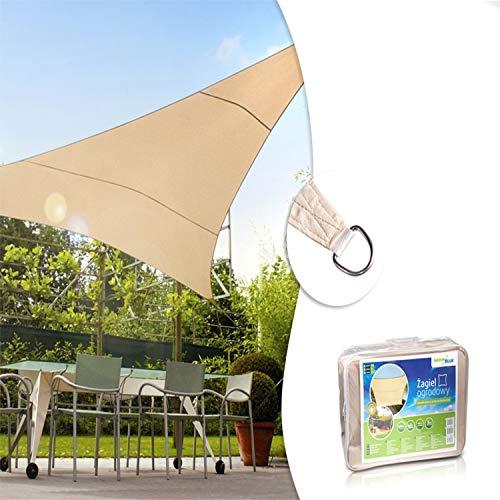 GreenBlue GB500 Luifel Parasol Zonnescherm Windscherm Zon Driehoek Crème 3,6m x 3,6m x 3,6m