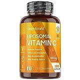 Vitamina C Liposomiale - Vitamina C 1000mg Alto Dosaggio - 180 Capsule (Per 3 Mesi) - La Vitamina C Contribuisce al Normale Funzionamento del Sistema Immunitario - Vitamina C Pura - Acido Ascorbico