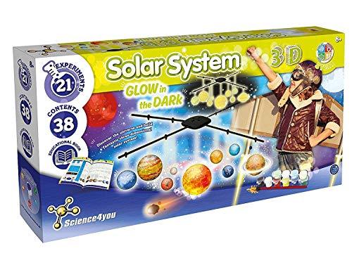 Science 4 You SY613034.0035 Sistema Solar 3D GITD, Stem Kit de Juguetes de Ciencia para niños Mayores de 8 años, Multi