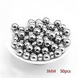 Matedepreso - Bolas de rodamiento de acero inoxidable, No nulo, como se muestra en la imagen, 3mm, 50pcs