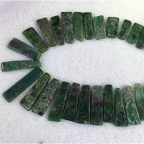 Juweel Kralen Natuurlijke Mooie Sieraden 1 Strengen Natuurlijke Groen Zuid-Afrika Jade Grootte: 9-10mm X 13-30mm Platte Slakken Plakken Boor Side Kralen Fit Sieraden Ketting Armbanden 15