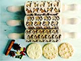 TIERE 3-er SET Kinder Nudelhölzer Teigrolle für hausgemachtes Gebäck. Tiere Teigrolle. Gravierte Nudelholz. Gravierte Teigroller mit Muster. Engraved rolling pin