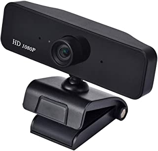 no logo MiMoo HD 1080P Computer Webcam, Widescreen USB Wide View Angle Camera with Microphone, Video Recorder for Streamin...