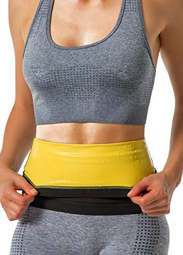 DYUAI Waist Trimmer for Women & Men Polymer Waist Trainer Sauna Sweat Workout Belt(BH4001,4XL/5XL,13)