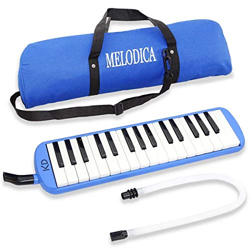 keepdrum Melodica 32 Tasten Blau mit Tasche