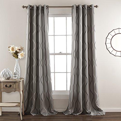 Lush Decor Swirl Blackout Window Curtain Panel (Set of 2)
