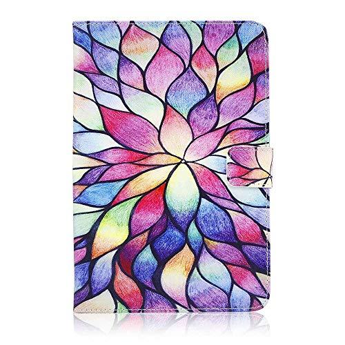 RZL Pad y Tab Fundas 9.7 Pulgadas a 10.1 Pulgadas de Cuero PU Caja de Soporte de Cuero Universal Tablet PC Shockroof Funda de Tableta Impresa para Samsung Lenovo Huawei Tablet (Color : B)