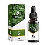 ALPEX-MED 5% Premium Hanf Terpene Tropfen 10ml gelöst in bestem MCT Öl mit erfrischend mildem Geschmack - frei von THC