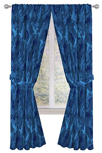 """Jay Franco Fortnite Emote Camo 84"""" inch Drapes - Beautiful Room Décor & Easy Set Up, Bedding - Curtains Include 2 Tiebacks, 4 Piece Set (Official Fortnite Product)"""