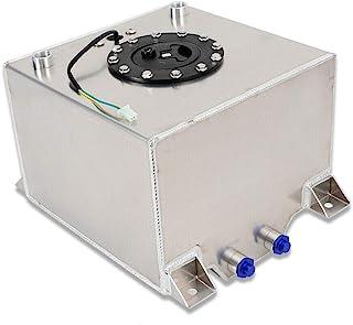 WUPYI2018 Réservoir de carburant universel en aluminium 20 l avec capteur de niveau d'huile 0-90 Ohms pour voiture de cour...