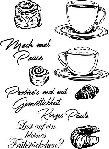 Brot und Kaffee transparent klarer Silikonstempel/Siegel für DIY Scrapbooking/Fotoalbum dekorativer klarer Stempel A152