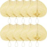 Handmade Bamboo Wedding Hand Fan Bulk For Farmhouse Decor & Boho Decor (Set of 10) - Wholesale Natural Raffia Hand Held Fans For Wedding Gifts For Couple & Guests - Rattan Handheld Fan For Decor Ideas