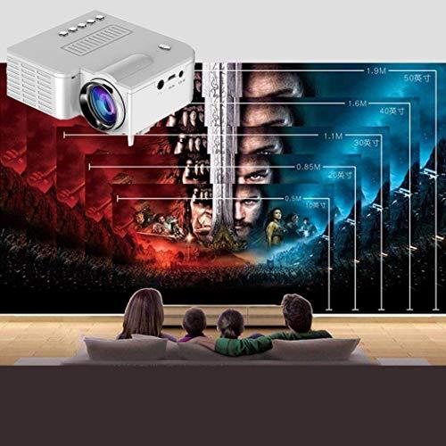 LEANO Mini Portable LED Projector 1080P Multimedia Home Cinema Theater Video Projectors