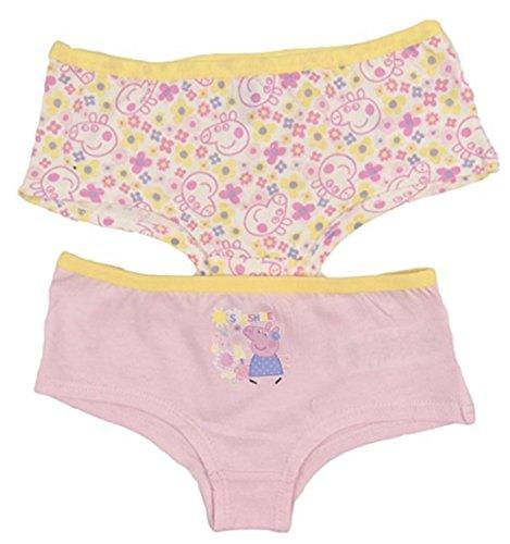 Peppa Pig 2 Packungen mit 2 Stück Slips/Unterhosen im Stil von 5–6 Jahren