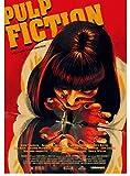 Lienzo Póster Pulp Fiction, Carteles De Cine, Adhesivos De Pared, Carteles Vintage, Cuadros Decorativos, Carteles De Pintura 50X70Cm Sin Marco