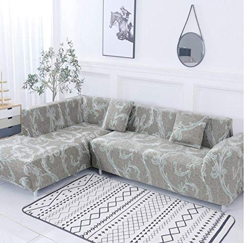 Sofa Cover Slipcover Sets Gooi 2 Stks Covers Voor Hoek Sofa Elastische Cover Sofa Voor Woonkamer Chaise Longue Bank Slipcover L Vorm Groene Strepen