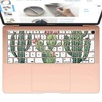 igsticker MacBook Air 13inch 2018 専用 キーボード用スキンシール キートップ ステッカー A1932 Apple マックブック エア ノートパソコン アクセサリー 保護 016421 サボテン 植物