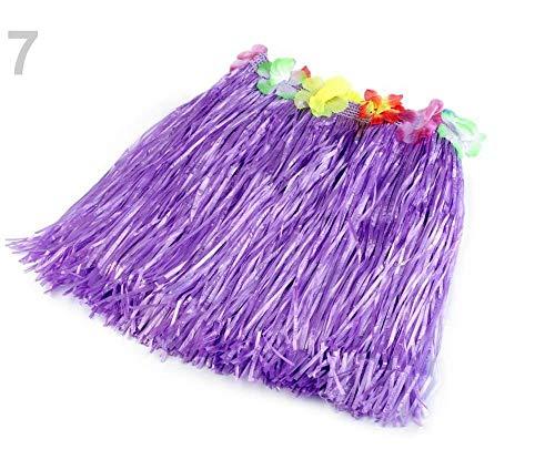 1pc Violeta Lavanda Hawai Falda Con Flores, Accesorios de Carnaval ...