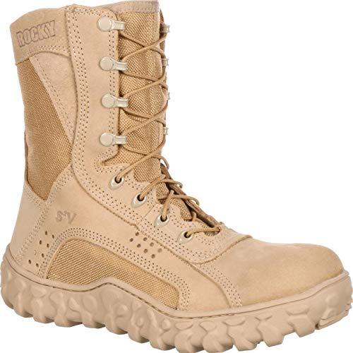 Rocky Men's S2V Steel Toe Work Boot,Tan,4 W US