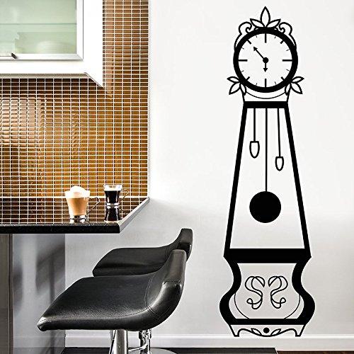 Walplus Sticker Mural Amovible en Vinyle Art Stickers Mural Autocollant Stickers muraux Horloge Grand-père Meubles Maison décoration DIY Salon Chambre Décor Papier Peint 54 x 54 x 190 cm, Noir