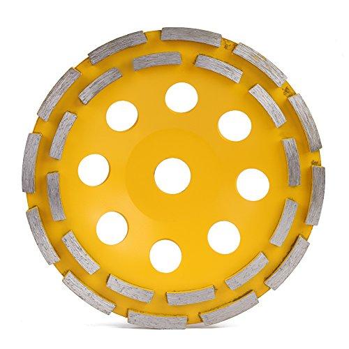 Disco de diamante de doble fila, para amoladora angular, mármol, hormigón, granito y piedra (180 mm)