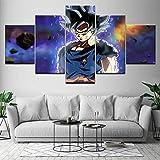 juntop Dragon Ball Super Ultra Instinct Goku 5 Pièce HD Fonds D'écran Art...