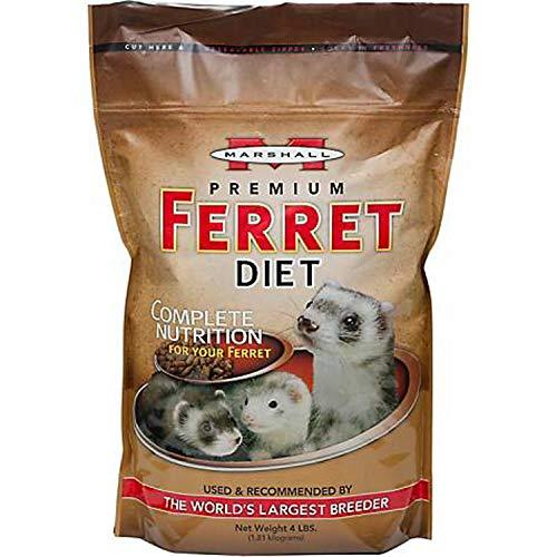 Marshall Premium Ferret Diet Food, 4 Pound, 2 Pack