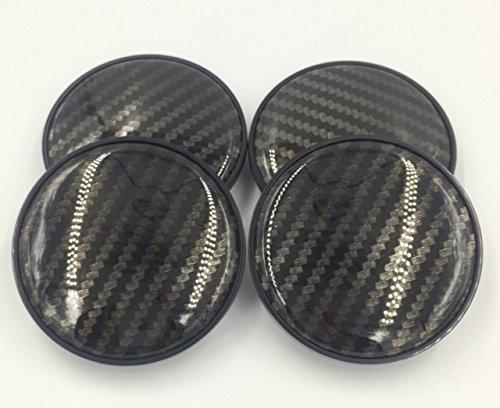 BizTech  68mm Tapas De Centro De Rueda Universal, para BMW, efecto de fibra de carbono