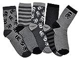 WB Socks 5 Paar Schädel Motiv Jungensocken - 13-16 Jahre