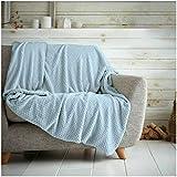 Hachete Waffle Honeycomb - Manta suave y cálida para sofá cama, cama (150 x 200 cm)