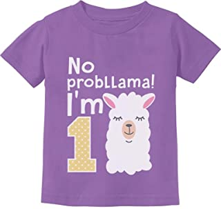 Gift for 1 Year Old Girl No Probllama Funny 1st Birthday Infant Kids T-Shirt