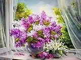 5D hecho a mano diamante pintura margarita florero rhinestone peonía flor mosaico hecho a mano punto de cruz simple flor rhinestone A2 45x60cm