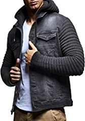 This jacket is produced from high-quality denim blend and acrylic fibers. This combination creates a lightweight, soft and warm product. The man-made fibers that are used for this outwear also tends to last longer than a lot of other materials, and c...