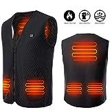 *Martiount Armilla Calefactable amb Càrrega USB Rentable Armilla Càlida d'Hivern per a Activitats Aire Lliure Adequat per a Homes i Dones Pesca Esquiar Caça